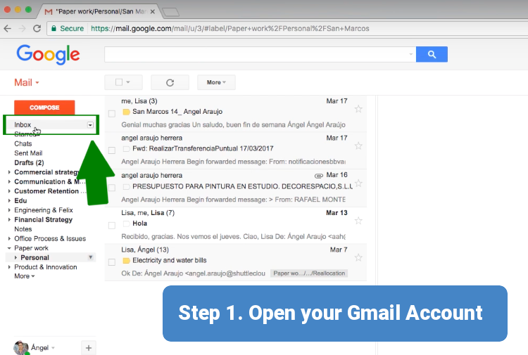 Step 1. Open your Gmail Account
